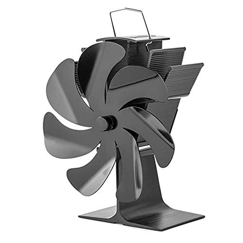 Ventilador de estufa con energía térmica, ventiladores de chimenea de 7 aspas, aire caliente que ahorra combustible Ventilador de circulación ultra silencioso de manera eficiente Distribución de calor