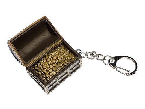 Miniblings Schatztruhe Schlüsselanhänger Truhe Schatz Schatzkiste Kiste - Handmade Modeschmuck I I Anhänger Schlüsselring Schlüsselband Keyring