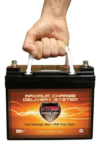 VMAXTANKS VMAX V35-857 12 Volt 35AH AGM Battery Marine Deep Cycle HI...