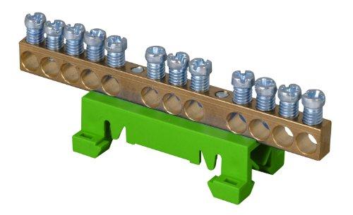 Kopp 250002003 Schutzleiter-Klemme mit Schnellbefestigung für die Hutschienen-Montage
