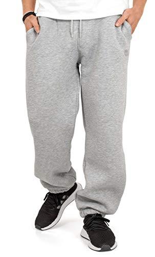 BACKSPIN Sportswear - Jogginghose Basic Farbe Hellgrau meliert, Größe L