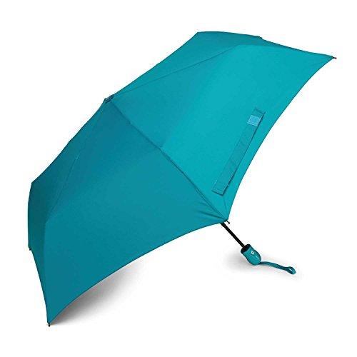 Samsonite Compact Auto Open/Close Umbrella, Teal, One Size