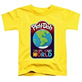 Play Doh Shape Your World Unisex Toddler T Shirt for Boys and Girls, Medium (3T) Yellow