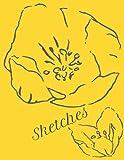Simple Blank Sketchbook Yellow...