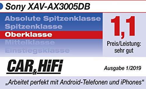 Sony XAV-AX3005 Premium Media Receiver (6,95 Zoll, DAB+, Bluetooth, Apple CarPlay, Android Auto)
