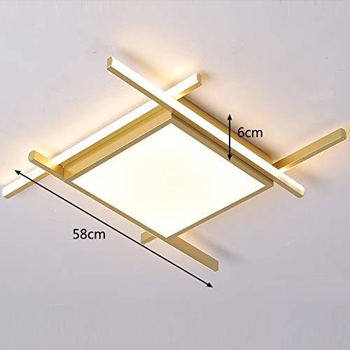 Lámpara de techo LED para sala de estar dorada regulable con control remoto angular creativa moderna cambio de color continuamente blanco cálido/blanco neutro/blanco frío pasillo lámpara de,Ø58