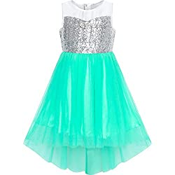 Green With Sequin & Mesh Princess Tulle Dress