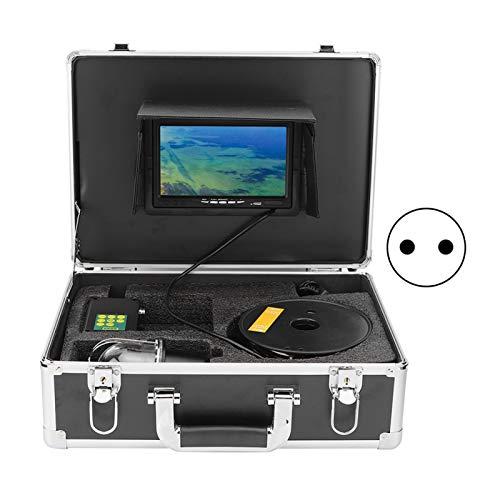 Telecamera Subacquea per Pesca, 7 Pollici TFT LCD Telecamera Subacquea per Pesca Subacquea Fish Finder a Tenuta Stagna Sistema di Monitoraggio Panoramico con Rotazione a 360° 100 M per(Spina UE)