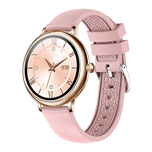VBF Smart Watch, Monitor de Ritmo cardíaco de la niña de Moda de NY12, Reloj Inteligente de Pantalla Redonda Femenina, Adecuado para Android y iOS,D