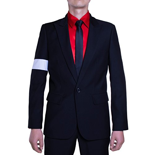 Michael Jackson Kostüm Gefährliches Armband Anzug Jacke MJB2C -  Schwarz -  M