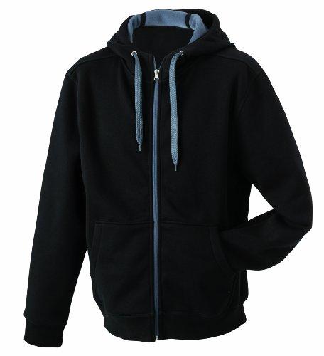 James & Nicholson Damen Doubleface Jacket Jacke, Schwarz (Black/Carbon), 40 (Herstellergröße: XL)