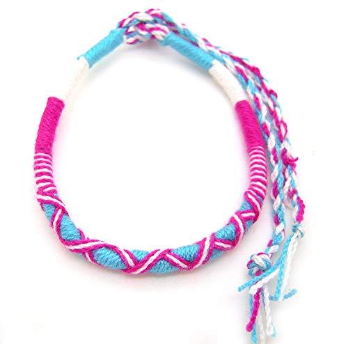 ミサンガ 手編み ブレスレット プロミスリング アミーゴブレス フリーサイズ アンクレット 願い事 意味 色 糸 結び方 足首 糸 ヨガ シルク コットン みさんが サッカー メンズ レディース ms004