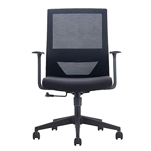 OSALADI vrijetijdsstoel stoel medewerkers bureaustoel supervisor Manager huishoudcomputer stoel ontvangst stoelstoel (kleur: zwart maat: 43 5-53 5cm)