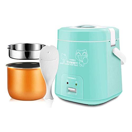 GXLO Food Steamer Technologie avancée Mini 1.8L Cuisinière à Riz pour Cuisine dortoir Cuisine Cuisson Vapeur Vapeur pour Soupe Porridge Riz cuit à la Vapeur Digital et Portable,Bleu