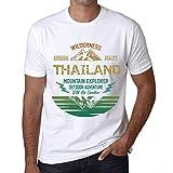 Hombre Camiseta Vintage T-Shirt Gráfico Thailand Mountain Explorer Blanco