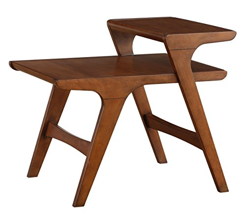 Homelegance Saluki Mid-Century Two-Tier End Table, Cherry