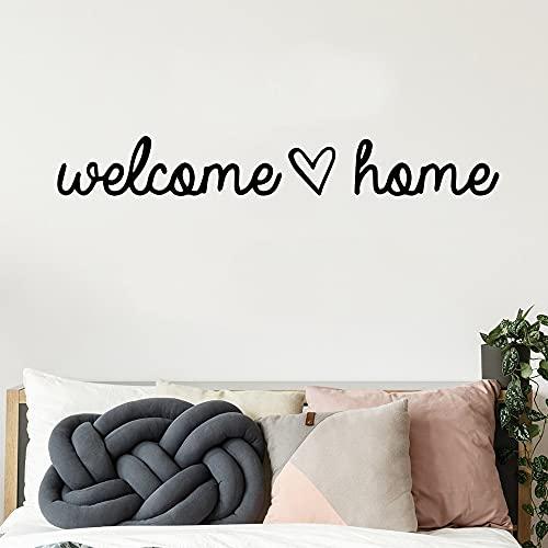 Diy Bienvenido a casa frase calcomanía de pared papel tapiz de vinilo calcomanía de pared decoración de la casa etiqueta de la pared A3 57x7cm