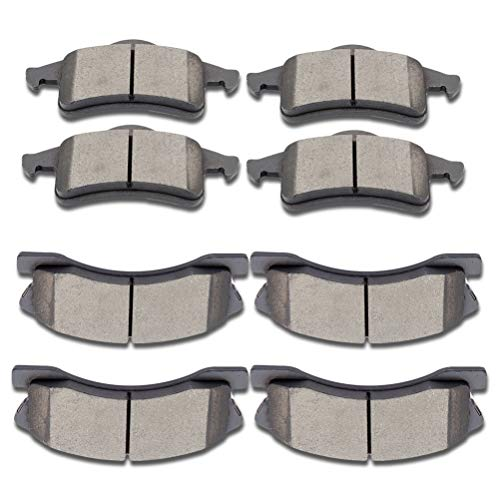 SCITOO Ceramic Front Rear Disc Brake Pad Set fit for 1999-2004 Jeep Grand Cherokee