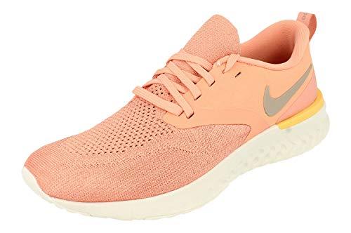 Nike Odyssey React 2 Flyknit, Zapatillas de Correr Mujer, Rosa (Pink Quartz/Pumice-Platinum Tint 602), 41 EU