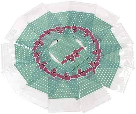 A/N 2000 Piezas Lindas Bolsas de Embalaje de Alimentos de Regalo Autoadhesivas pequeñas Bolsas de Galletas Bolsa de Dulces OPP Bolsa Paquete Suministros (Azul)