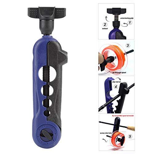 Dioche Mini Line Spooler, Tragbare Einstellbare Angelschnur Spooler Spinning Lines Winder Reel Spooling Gerät