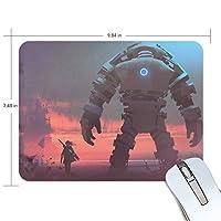 マウスパッド かわいい 巨大なロボット 刀を負う少年 日落ち 高級 ノート パソコン マウス パッド 柔らかい ゲーミング よく 滑る 便利 静音 携帯 手首 楽