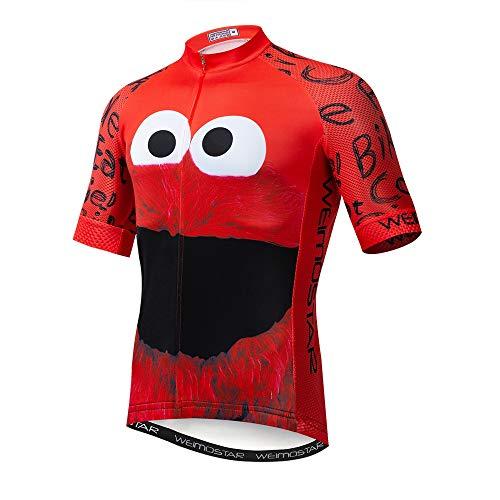 Maillot de ciclismo con manga corta para hombre (2021). Ropa de ciclismo para exteriores, bici de montaña - rojo - pecho 88/94 cm = etiqueta M