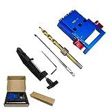 XK-3 Pocket Loch Jig Kit 3 Löcher zur Holz Bohrführung Aluminium Oblique Locator Zimmerei Werkzeug Bohrmaschine