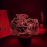 FDJHG - Figura de anime 3D LED de luz nocturna de neón multicolor manga regalo de Navidad dormitorio dormitorio decoración de salón FDJHG