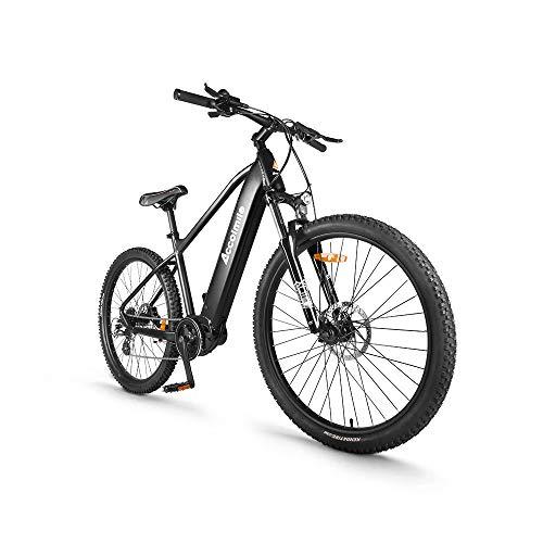 Accolmile Bicicleta Eléctrica de Montaña de 27,5 Pulgadas, BAFANG M200 Torque Mid Motor 36V 250 W, Batería de Litio de 15 Ah, Horquilla Delantera con Suspensión y Shimano de 8 Velocidades
