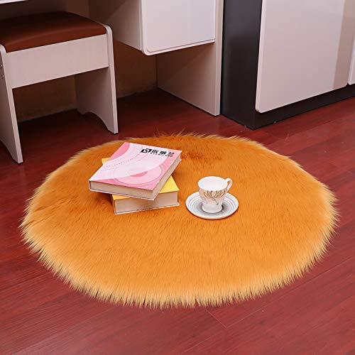 DJUX Alfombra Salón, Alfombras para Sala, Comedór & Dormitorio, Fácil de Limpiar, Superficie Suave,Circle diameter30cm