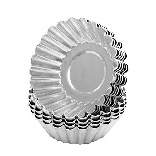 BESTonZON 30pcs Ei Torte Form Non Stick Aluminium Cupcake Kuchen Cookie Pudding Zinn Form ausgekleidet Form Zinn Backwerkzeug