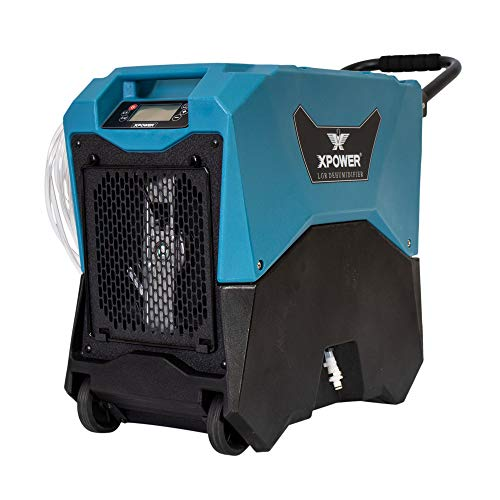 XPOWER XD-85LH Commercial LGR Dehumidifier for Basements and Crawlspaces - Blue