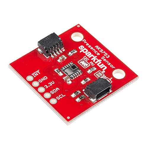 SparkFun Human Presence Sensor Breakout - AK9753 (Qwiic) - 4-Channel Nondispersive Infrared Detector Tell which Direction a Person is Moving 16-bit Digital Value Four sensors Voltage 1.7V to 3.3V PIR