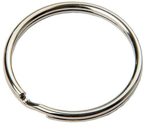 SBS® Schlüsselring | Ø 15 mm | 100 Stück | Stahl | glänzend und abgerundet | Schlüsselanhänger Schlüsselringe Schlüssel Ring