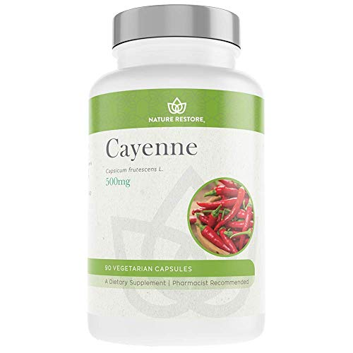 Cayenne Pepper Extract Supplement, Standardized to 0.45 Percent Capsaicin, 70,000 Scoville Heat Units, 90 Capsules, Manufactured in USA, Non-GMO & Gluten Free