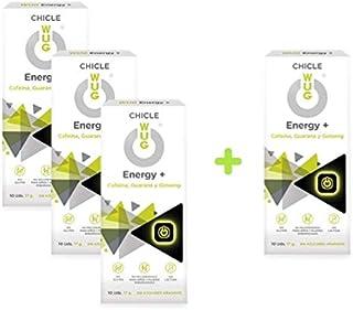 comprar comparacion OFERTA 3+1 WUG Energy+ Chicle Ideal para Deportes Extremos, Cafeína, Guaraná, Ginseng, Sabor Menta, Pack 4 cajas (4 x 10 uds)