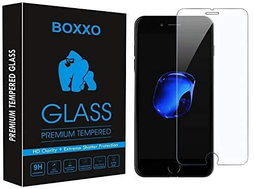 Boxxo Screen Protector for Apple iPhone 8 [Tempered Glass Guard] [Gorilla] Easy Installation [Anti FingerPrint]