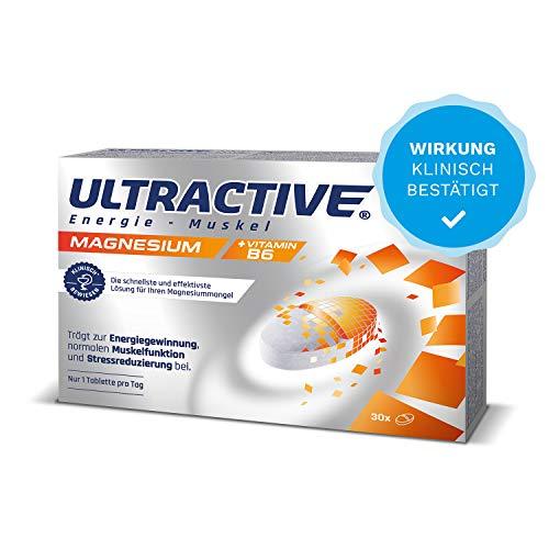 Magnesium hochdosiert Kapseln, Vitamin B6 Komplex elements, Nahrungsergänzungsmittel, geeignet für Sportler, 100% Bioverfügbar, 30 Tabletten