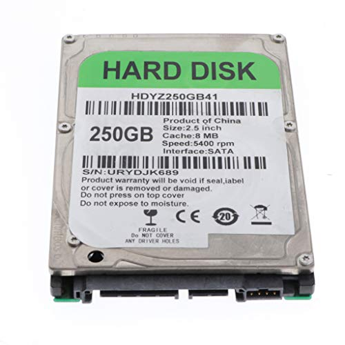 B Baosity 250GB HDD Interno Disco Duro Mecánico de Alto Rendimiento, SATA 2 8M, 2.5 Pulgadas - 250GB