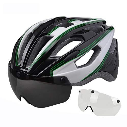 GYM Fahrradhelm Dünner Fahrradhelm Berg und Straßen-Fahrrad-Helme mit veränderbarer Länge Erwachsene Fahrradhelme abnehmbares magnetisches Schutzbrille for Männer Frauen (Size : C)