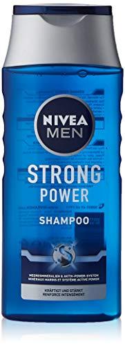 NIVEA MEN Strong Power Shampoo (250 ml), effektives Haarshampoo mit Meeresmineralien, Pflegeshampoo für kraftvolles und gestärktes Haar