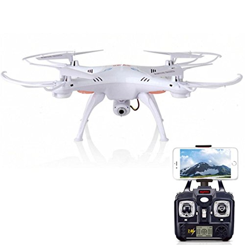 Syma X5SW Explorers2 2.4G 4CH 6-Axis Gyro RC Headless Quadcopter with 2MP HD Wifi Camera (FPV) White Fpv drone