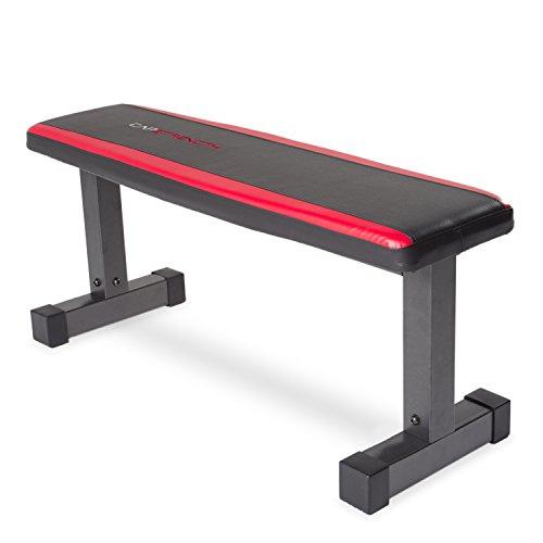 CAP Barbell Memory Foam Flat Bench, Black/Red