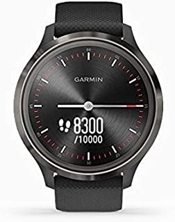 Garmin vívomove 3, Hybrid Smartwatch with Real Watch Hands and Hidden Touchscreen Display, Black