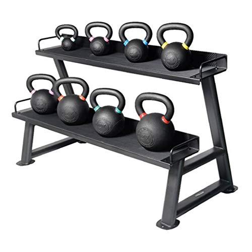 Hantelbäume Gewichtsständer Hantelablage Glockenablage Kettlebell-Verkaufsständer for gewerbliche Turnhallen Ablage for Fitnessgeräte Hanteltraining (Color : Black, Size : 139 * 63 * 74cm)