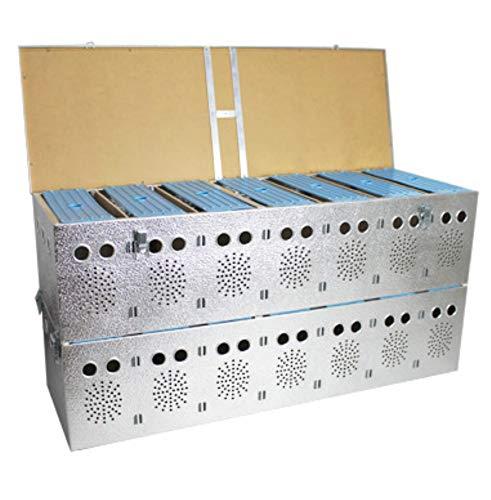 Polmark Cesta (transportín) Doble de Aluminio de 7x2 Compartimentos, para Palomas