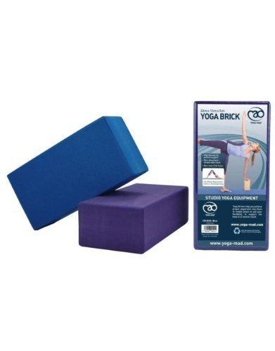 Yoga-Mad Hi density Yoga Brick - Blue by Yoga Mad