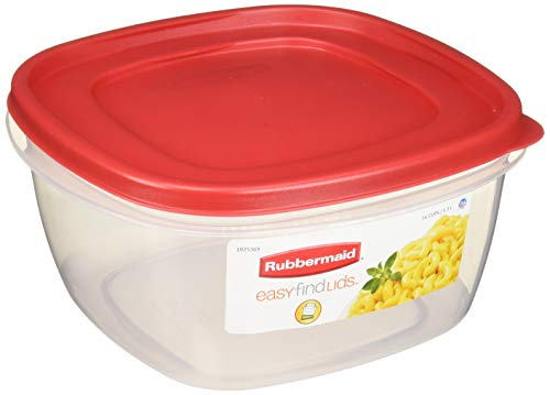 Rubbermaid Easy-Find Lid Food Storage Container, 14-Cups, Pack of 2, 2-Pack, Red