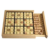 Andux Land Wooden Sudoku Puzzle Board Game with Drawer SD-02 (Black)